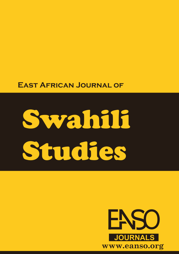 EANSO EAJSS JAMMK - East African Journal of Swahili Studies Cover